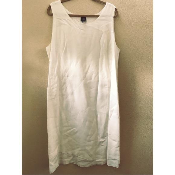 Eileen Fisher Dresses White Linen Plus Size Dress Poshmark